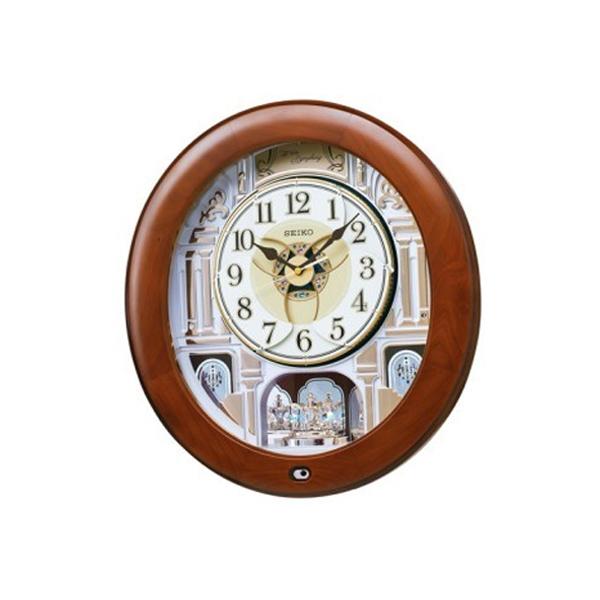セイコー SEIKO クロック 電波 掛け時計 からくり時計 RE574B ブラウン