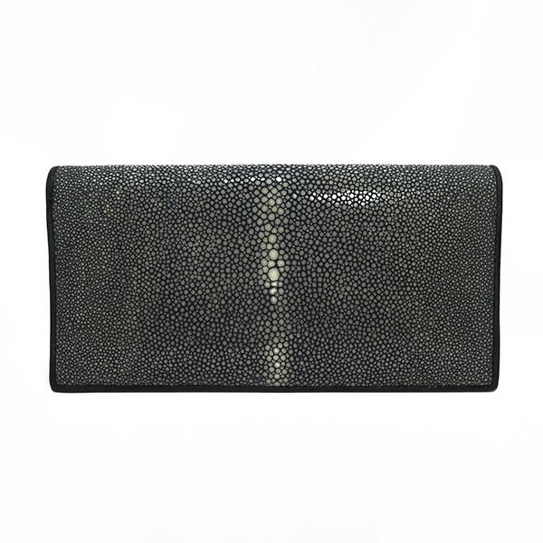 生活関連グッズ ユニセックス スティングレイ ポリッシュ 長財布 SJSK-E1562-BK ブラック