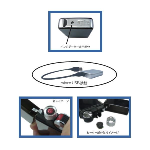便利雑貨 メンズ スパイラ SPIRA バッテリーライター シルバーチェック メンズ SPIRA-504CH-SS