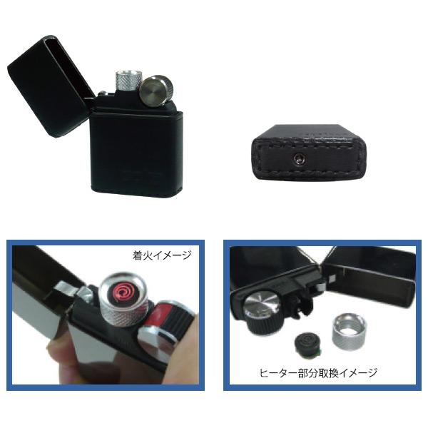 便利雑貨 メンズ スパイラ SPIRA バッテリーライター アーマー革巻き メンズ SPIRA-601BK ブラック