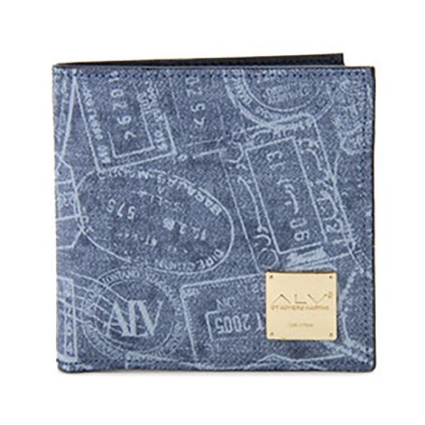 生活関連グッズ レディース エーエルブイ ALV 二つ折り財布 短財布 パスポートライン WB5023-41-507 ブルー
