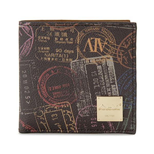 生活関連グッズ レディース エーエルブイ ALV 二つ折り財布 短財布 パスポートライン WB5023-41-602 モカ・ブラウン
