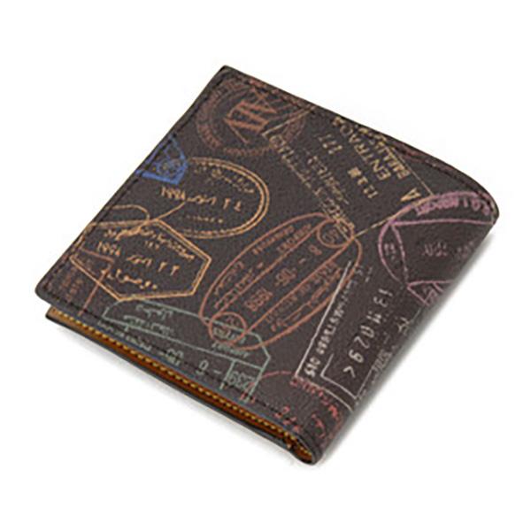 便利雑貨 レディース エーエルブイ ALV 二つ折り財布 短財布 パスポートライン WB5023-41-602 モカ・ブラウン