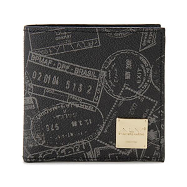 生活関連グッズ レディース エーエルブイ ALV 二つ折り財布 短財布 パスポートライン WB5023-41-902 ブラック