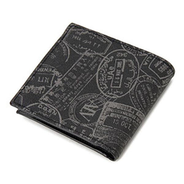 便利雑貨 レディース エーエルブイ ALV 二つ折り財布 短財布 パスポートライン WB5023-41-902 ブラック