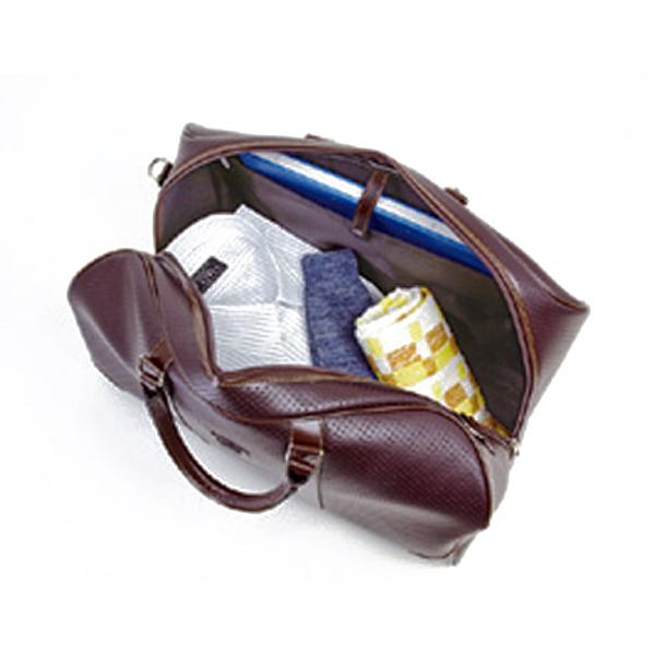 便利雑貨 メンズ ブレザークラブ メンズ パンチング合皮ボストンバッグ 10404 チョコ 国内正規