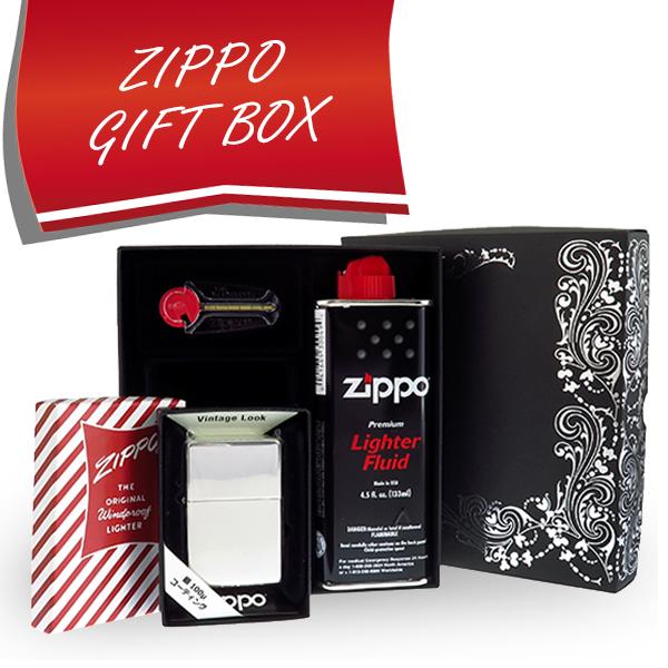 お役立ちグッズ 【ギフトBOXセット】 ジッポ ZIPPO 230 100ミクロン ミラー アラベスクBOX ギフトセット 230-100MI-MIRROR