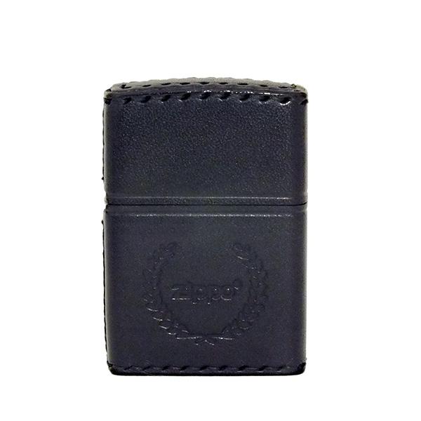 便利雑貨 ジッポ ZIPPO ライター 本牛革手縫い B-7 ブラック