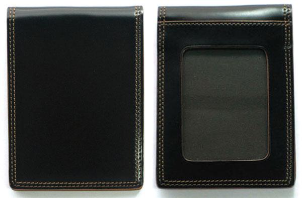 便利雑貨 コードバン CORDOVAN 名刺入れ/カードケース/パスケース CO-10 ブラック