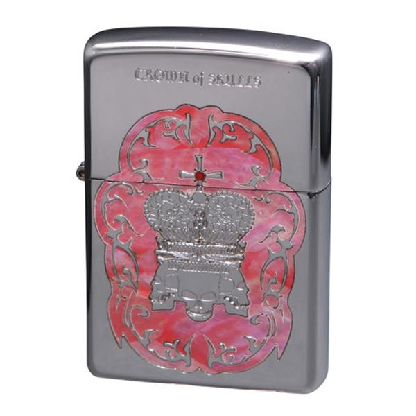 便利雑貨 メンズ ジッポ ZIPPO オイルライター クラウンオブスカルズ メンズ COS-B ピンク
