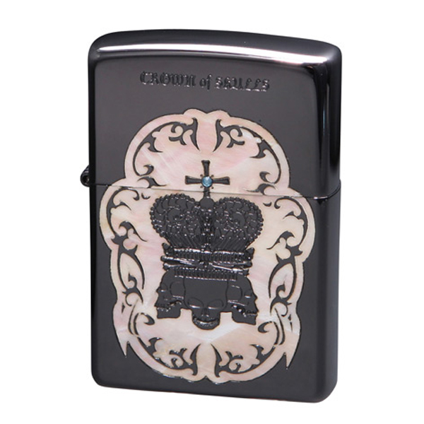 便利雑貨 メンズ ジッポ ZIPPO オイルライター クラウンオブスカルズ メンズ COS-C アイボリー