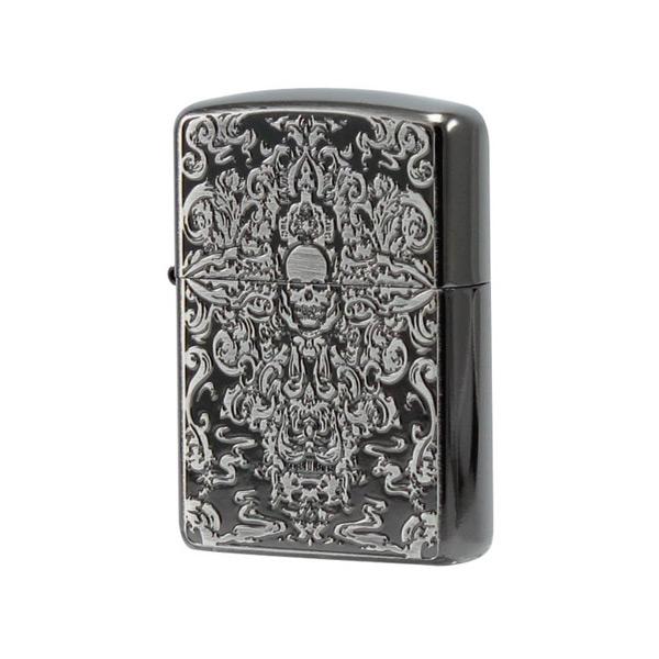 便利雑貨 メンズ ジッポ ZIPPO オイルライター Grotesque Skull 喫煙具 GTS-B ブラック