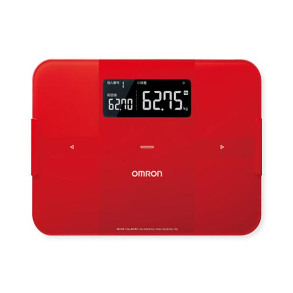 オムロン OMRON 体組成計 体重計 カラダスキャン HBF255T-R 4975479414817 レッド