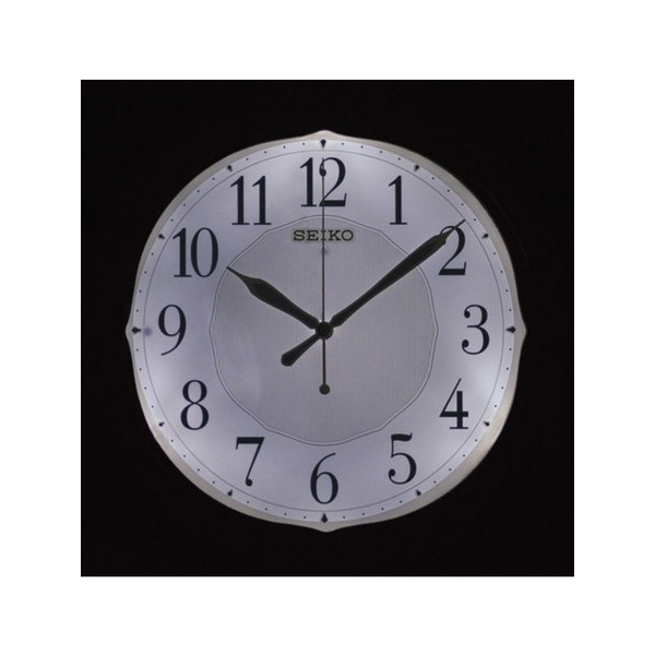 便利雑貨 セイコー SEIKO 自動全面点灯 電波 掛け時計 KX202B ブラウン