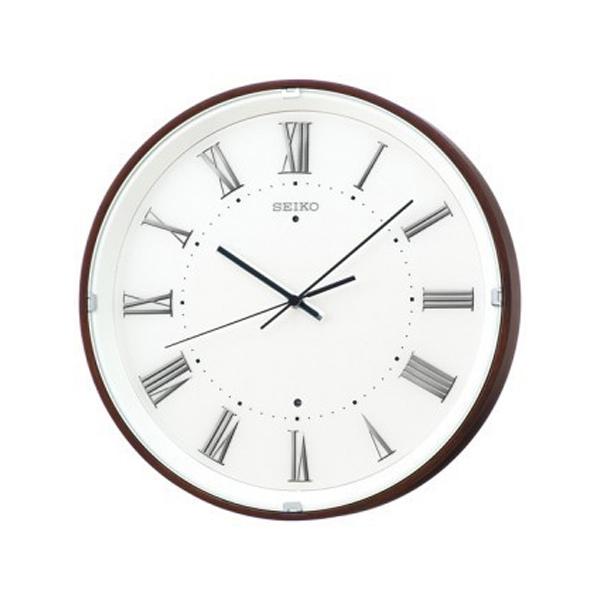 便利雑貨 セイコー SEIKO Natural Styleシリーズの曲 電波 掛け時計 KX206B ブラウン