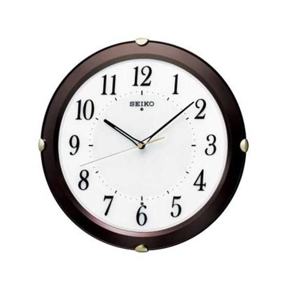 便利雑貨 セイコー SEIKO 見やすさを追求したシンプルな 電波 掛け時計 KX211B ブラウン