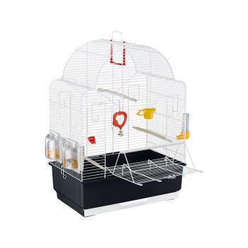 【洗顔用泡立てネット 付き】オープンタイプで外で遊ばせるのに便利。 カナリヤ・インコ用ケージセット イビザ オープン ホワイト(色おまかせ) 52021811オススメ 送料無料 生活 雑貨 通販