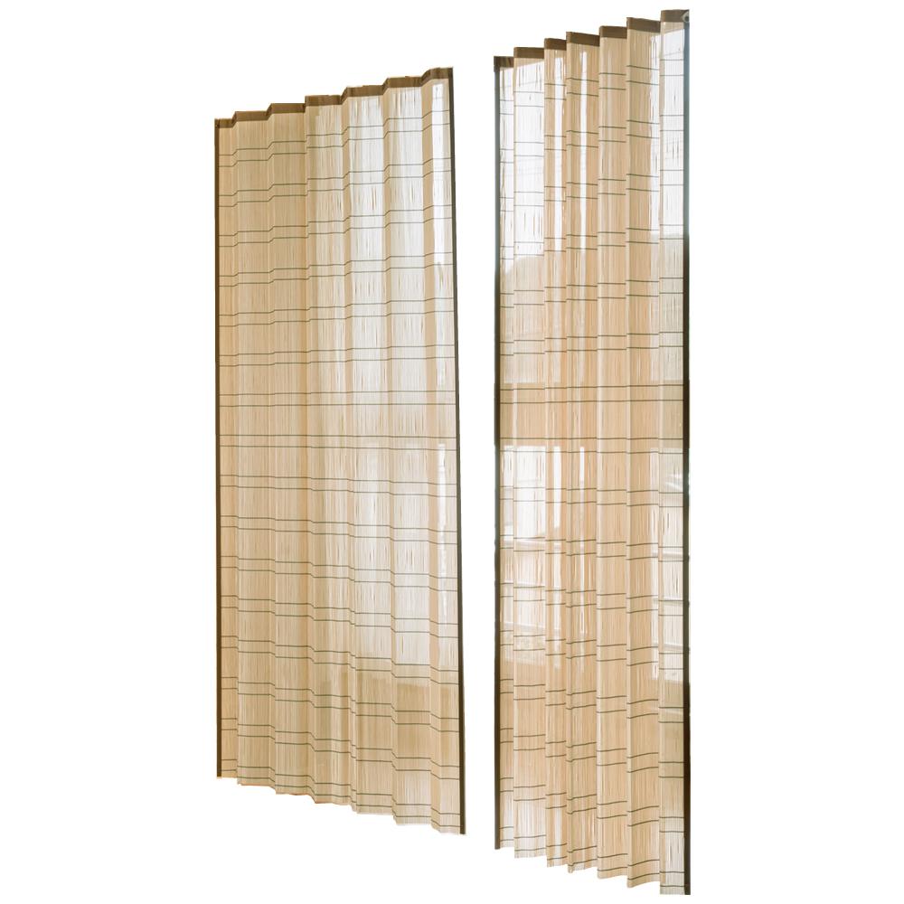 【単三電池 1本】おまけ付き竹すだれカーテン 100×170cm 2枚組 TC1507172P 涼感溢れる竹製カーテン!!