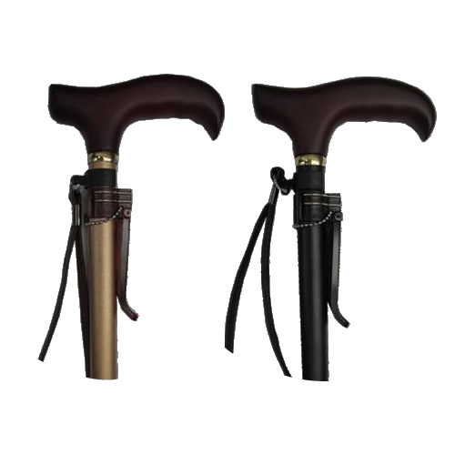 日用品 便利 ユニーク ラクーンステッキ(楽運素敵) 伸縮 ハードタイプ つや消しゴールド・OMST16-GD