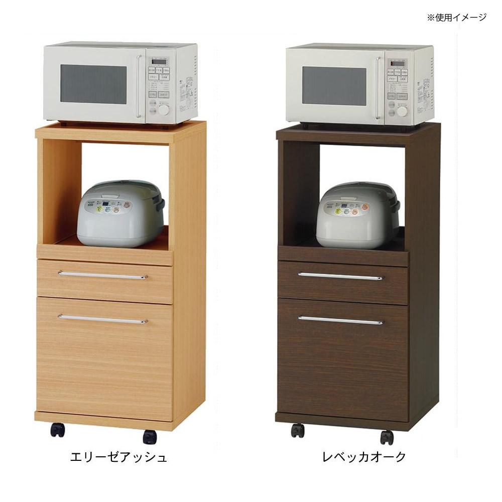 トレンド 雑貨 おしゃれ フナモコ 日本製 レンジ台 コンセント1ヶ口 482×445×1015mm レベッカオーク・ARE-48