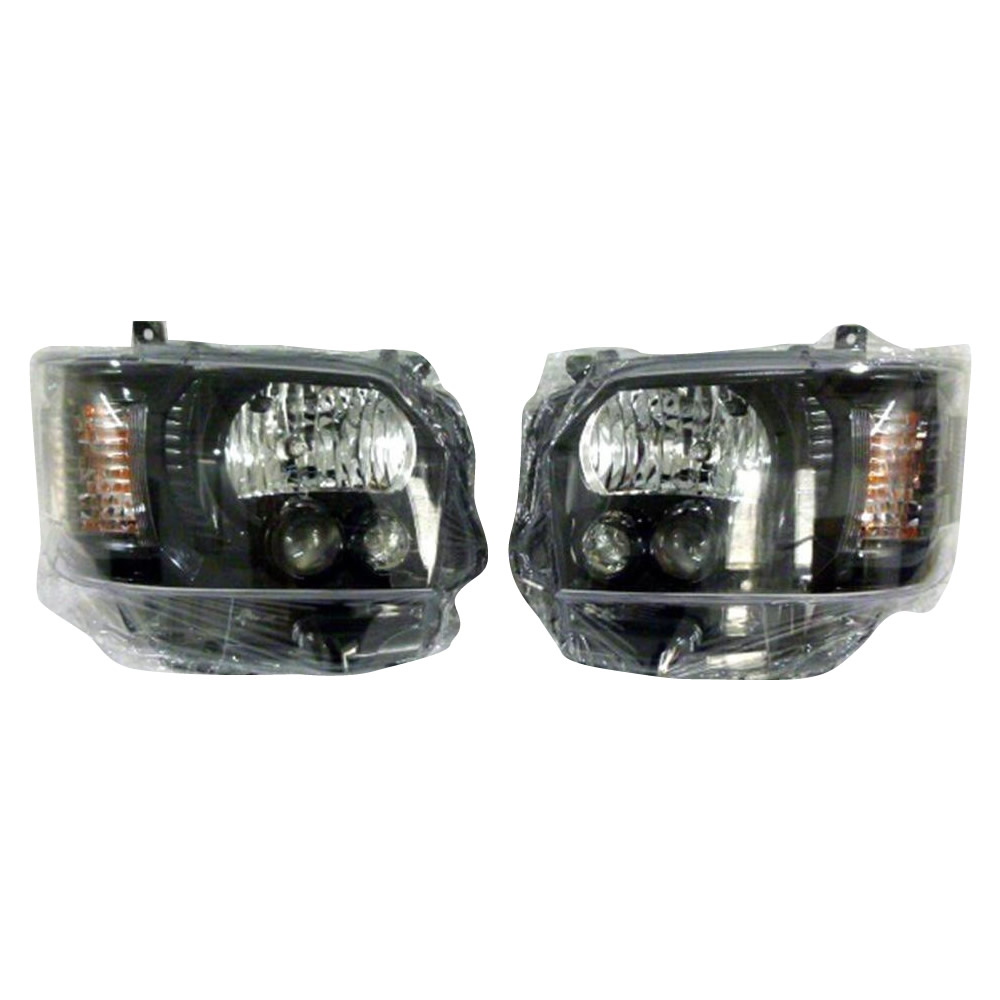 SoulMates 200系ハイエース(1・2・3型用) カスタム用LEDヘッドライト 4型ルック ブラック(艶)枠塗装タイプ GTH-005