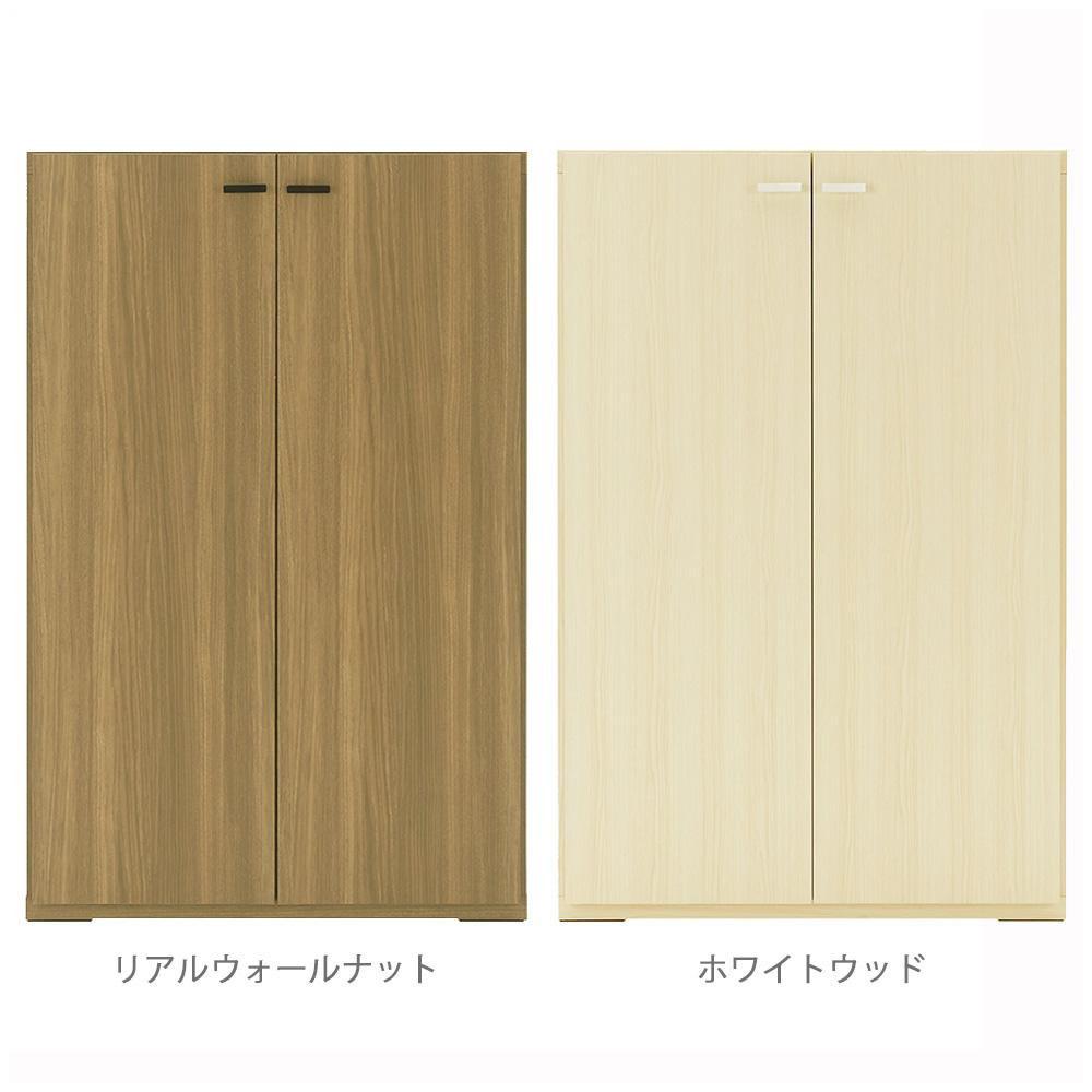 便利雑貨 フナモコ 日本製 LIVING SHELF 棚 板戸 743×387×1138mm ホワイトウッド・KFS-74