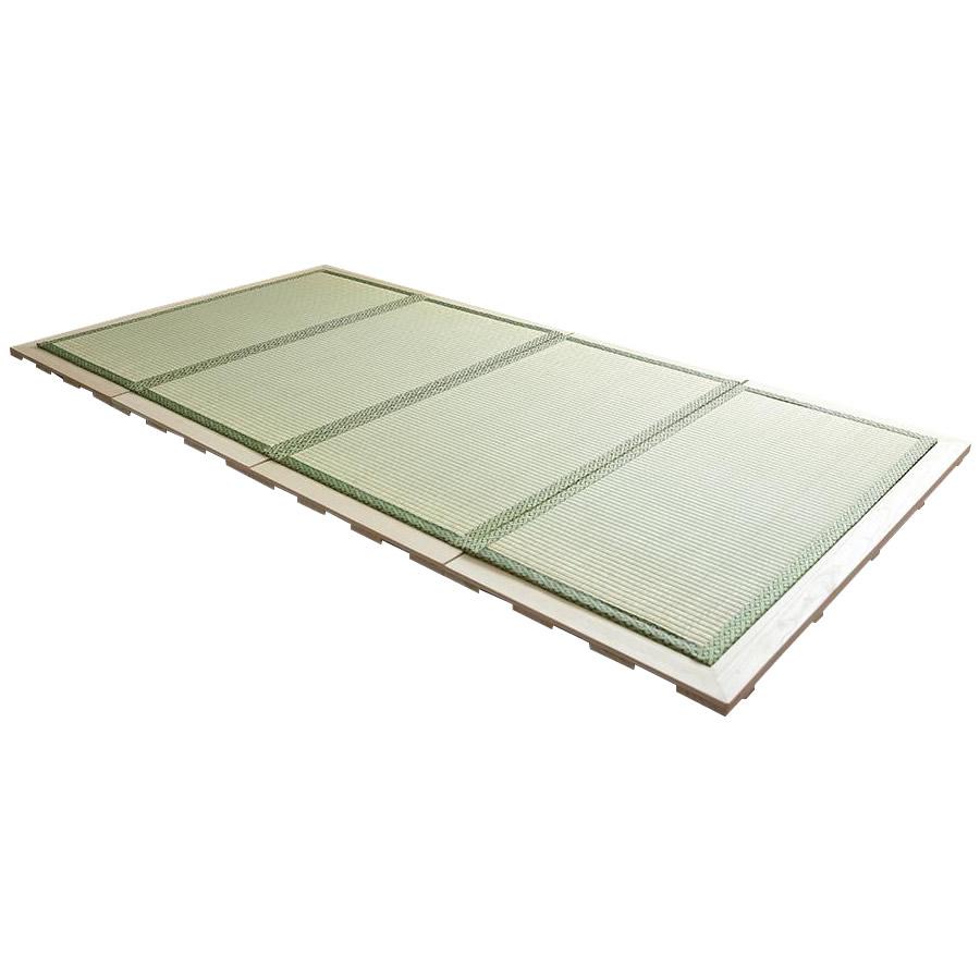 便利雑貨 天然い草張り桐製すのこベッド 4つ折れ式 完成品 TTMF-210□ベッド インテリア・寝具・収納 関連
