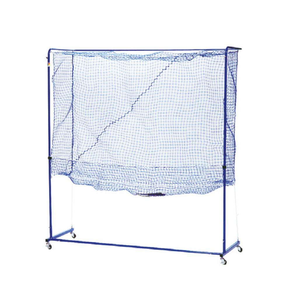 便利雑貨 卓球トレメイト 多球練習用ネット製ゲージ 組立式 スタンダード ブルー 42-287