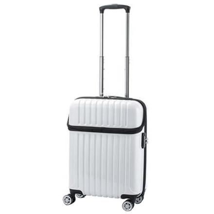 生活関連グッズ 機内持込対応 スーツケース トップオープン トップス Sサイズ ACT-004 ホワイトカーボン・74-20319