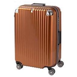 便利雑貨 スーツケース ストリークII フレームハード Lサイズ TL-14 オレンジヘアライン・76-20236