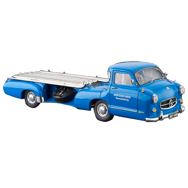 【単四電池 4本】付き細部までこだわって作り上げられたモデルカーです  流行 生活 雑貨 メルセデス・ベンツ レーシングトランスポーター 1955 1/18スケール M-143