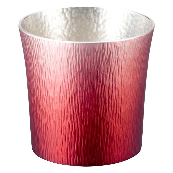 便利雑貨 錫製タンブラー 310ml 赤 木箱入 1162-048