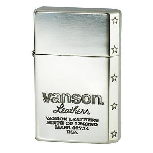 便利雑貨 オイルライター vanson×V-GT-05 ロゴデザイン シルバー