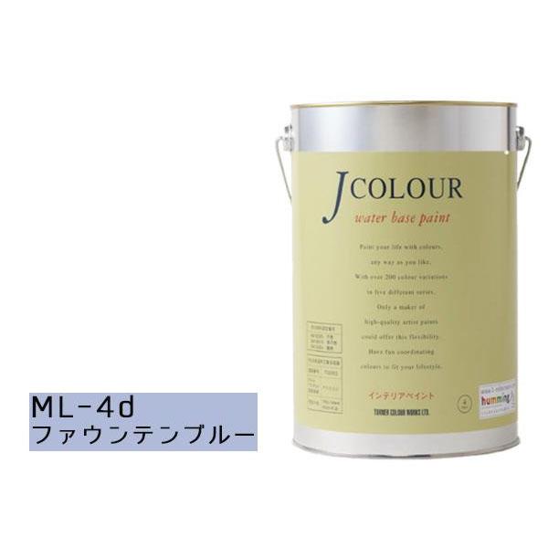 便利雑貨 水性インテリアペイント Jカラー 4L ファウンテンブルー JC40ML4D(ML-4d)