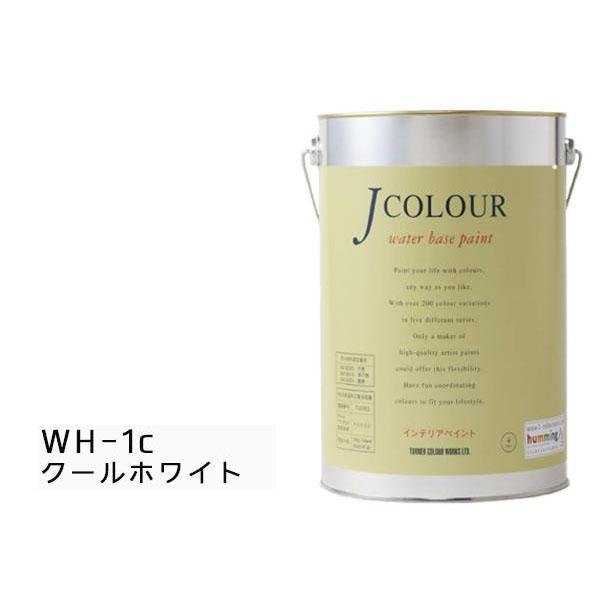 便利雑貨 水性インテリアペイント Jカラー 4L クールホワイト JC40WH1C(WH-1c)