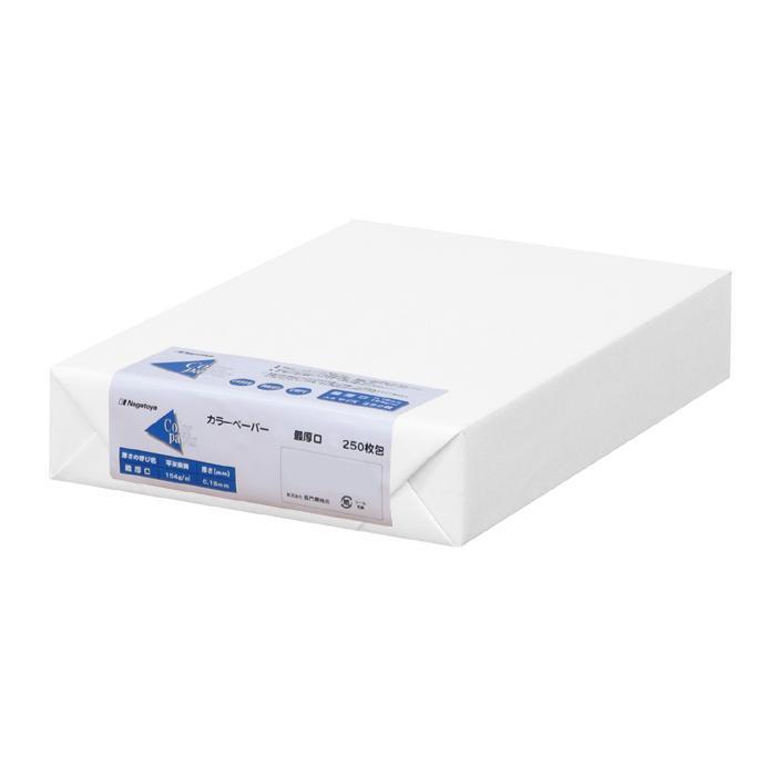 便利雑貨 カラーペーパー A3 最厚口 白 250枚パック ナ-1551