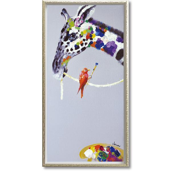 便利雑貨 オイル ペイント アート 「ジラフ ペインティング」 Mサイズ OP-18006