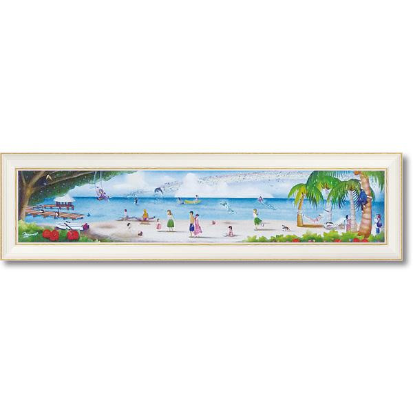 便利雑貨 アートフレーム 地上の楽園(Mサイズ) NM-08006