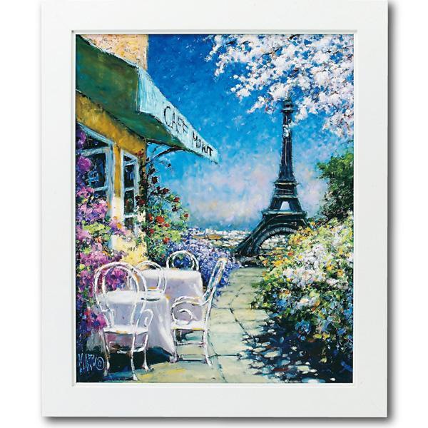 □生活関連グッズ □ユーパワー マルコ マヴロヴィッチ アートフレーム 「パリのカフェ」 Lサイズ MM-08002