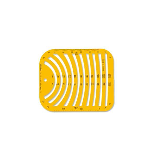 【単三電池 6本】おまけ付き柔軟で割れにくく、透明度も高いテンプレートです。 テンプレート No.108 円周定規 1-843-0108