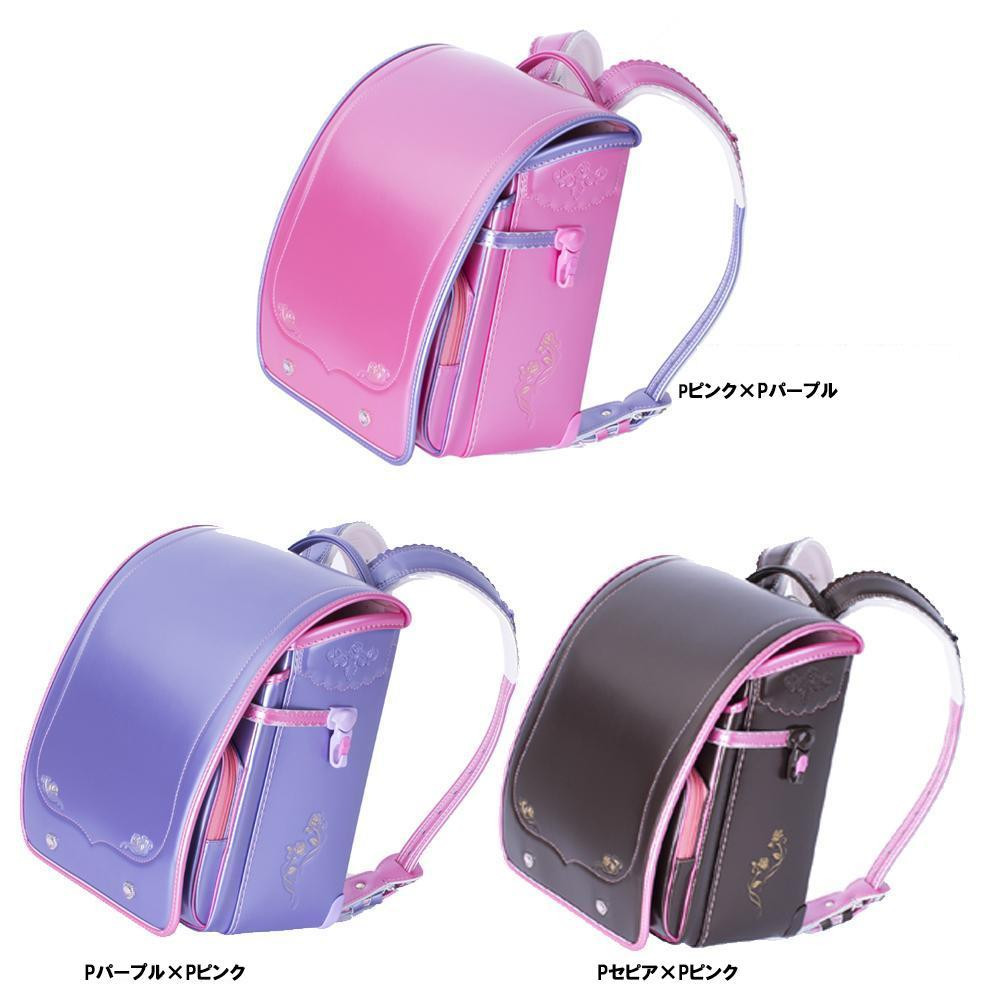 便利雑貨 ランドセル 女の子用 2016年度モデル フローラ Pピンク×Pパープル・03-04767