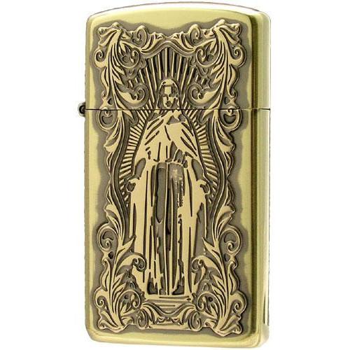 お役立ちグッズ オイルライター ディープエッチング アラベスクマリア スリム 真鍮いぶし 63210298