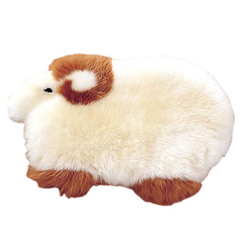 トレンド 雑貨 おしゃれ ムートン 羊型マット 約70×38cm MGH70