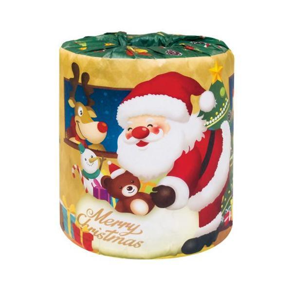 便利雑貨 ハッピークリスマス サンタロール トイレットペーパー 100個入 2360