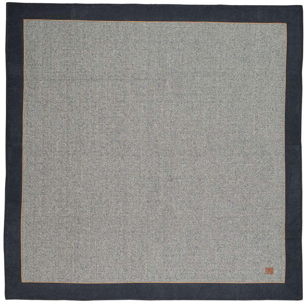 インテリア関連 ツイード×コーデュロイのキルトラグ カウニス ネイビー 約200×250cm 240617555