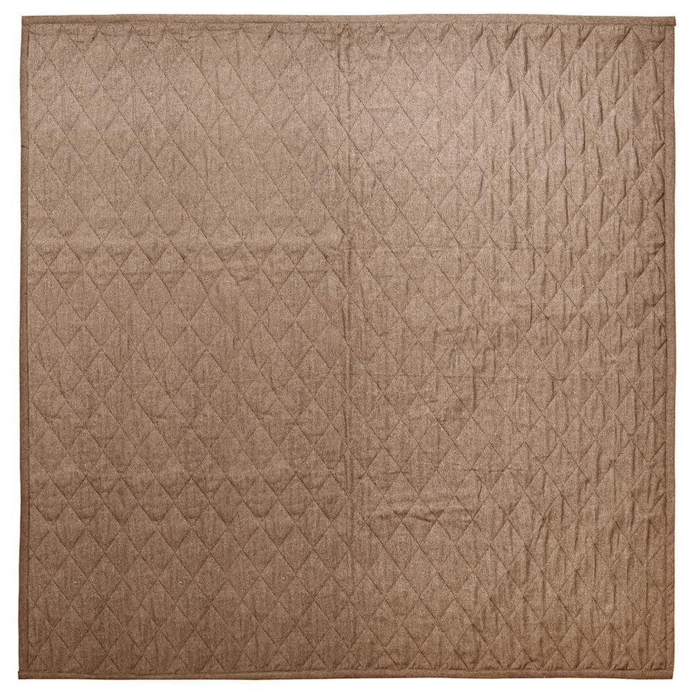 やわらかデニムのキルトラグ デニスタイル キャメル 約185×240cm 270070924