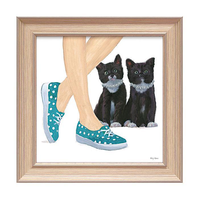 アートフレーム エミリー アダムス 「キューティー キティ3」 EA-05017おすすめ 送料無料 誕生日 便利雑貨 日用品