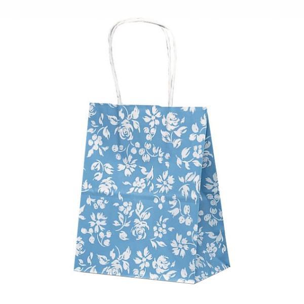 T-2 自動紐手提袋 紙袋 紙丸紐タイプ 200×120×250mm 200枚 カレン(ブルー) 1222人気 お得な送料無料 おすすめ 流行 生活 雑貨