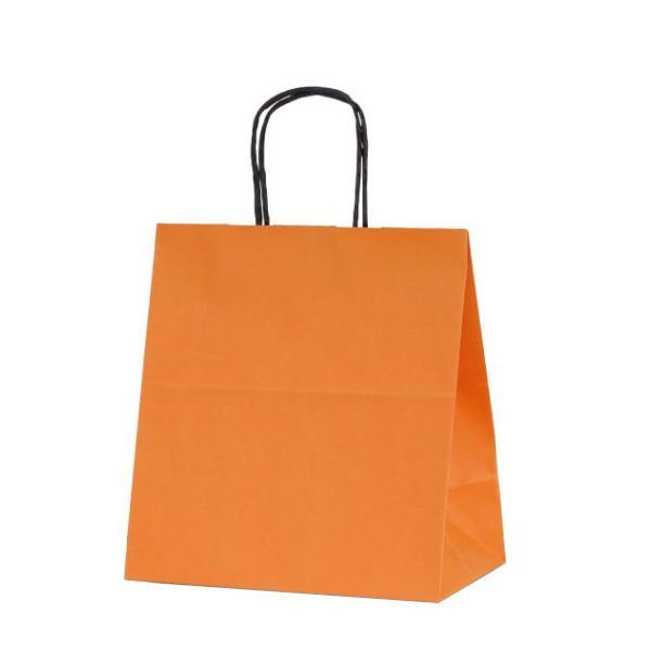 T-5W 自動紐手提袋 紙袋 紙丸紐タイプ 260×150×280mm 200枚 カラー(オレンジ) 1684人気 お得な送料無料 おすすめ 流行 生活 雑貨