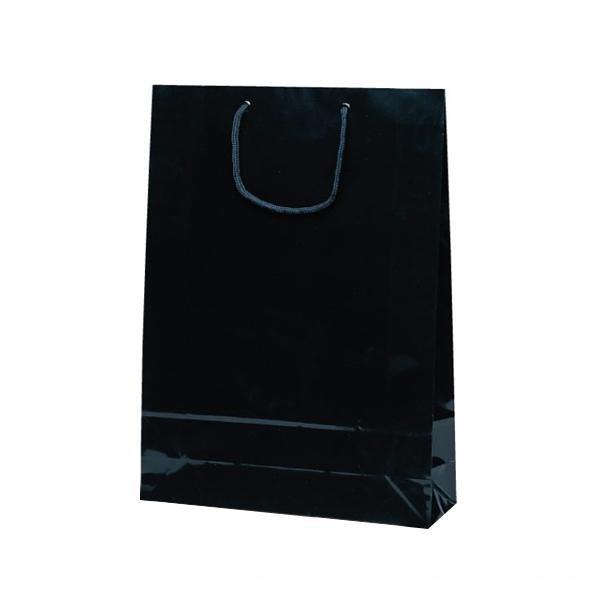【薬用入浴剤 招福の湯 付き】高級感ある手提袋! 家事用品関連 エクセルバッグ 手提袋 330×100×450mm 50枚 ブラック 1101